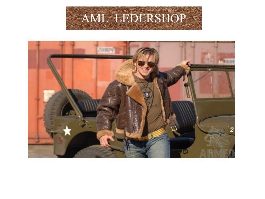 British Airforce RAF Bomber Jacket Sheepskin Leather