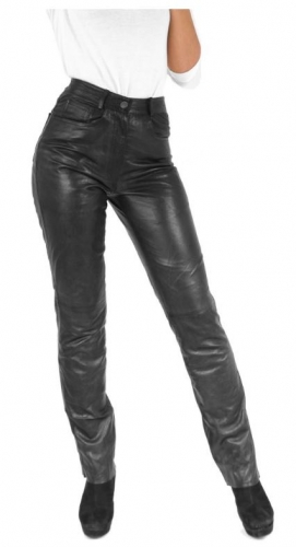 Tight Leather Pants Genuine Lambskin Leather 9809 black