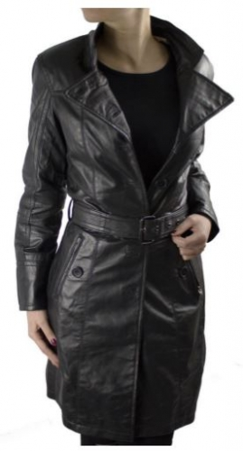Leather Coat Ricano Lena Real Lambskin leather black