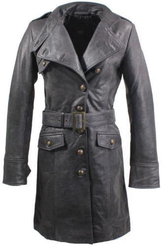 Leather Coat Real Lambskin Leather Ricano Sera brown