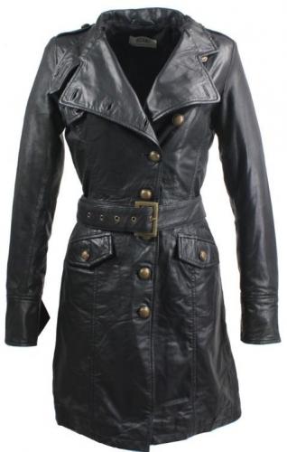 Leather Coat Women Ricano Sera Real Lambskin Leather black