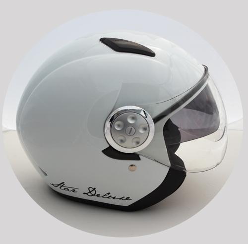 Motorradhelm Skorpion Star deluxe Jet Helm weiß