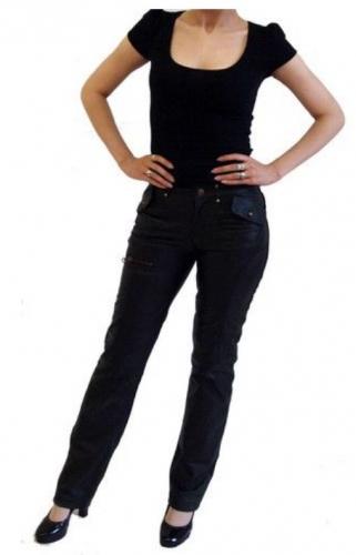 Damen Lederhose Ricano Inspirit Lammnappa-Leder schwarz