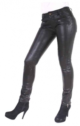Womens Leather Pants Ricano Tally Lambskin Leather black