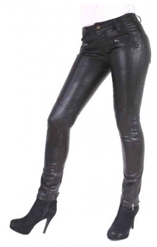 Damenlederhose Ricano Tally PantsLammnappa-Leder schwarz