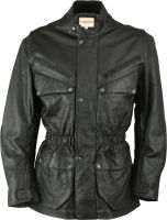 Cowhide Nappa Leather Jacket Fuente deluxe black