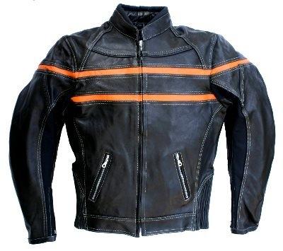 Lederjacke Skorpion Roadstar schwarz-orange