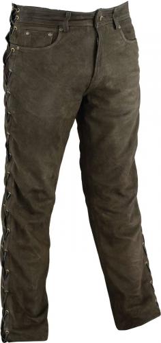 Schnürlederhose Ricano Biker Büffel Nubukleder braun