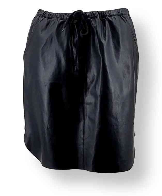 Mini-Lederrock Levinsky Skirt Schnürung Lammnappaleder schwarz