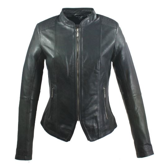 Womens Leather Jacket Ricano Abigale Lambskin Black
