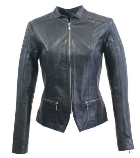 Womens Leather Jacket Ricano Mary Lambskin Leather black