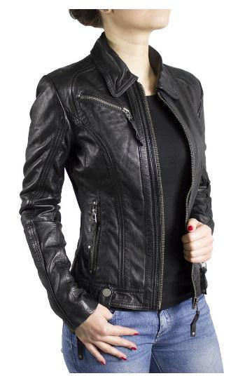 Damen Lederjacke in schwarz