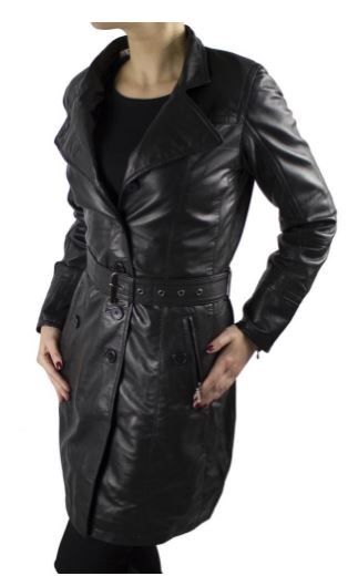Womens Leather Coat Ricano LENA Lambskin Leather Black