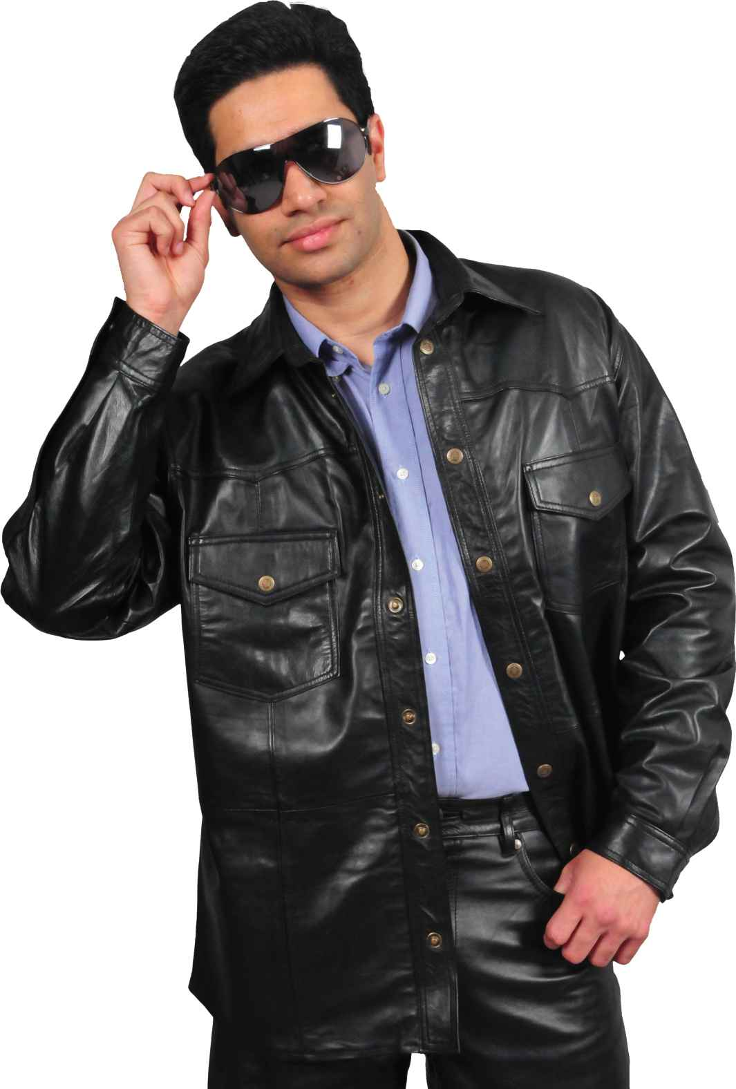 Mens Casual Leather Shirts in famous & fashionable Lambskin & Goat Leather