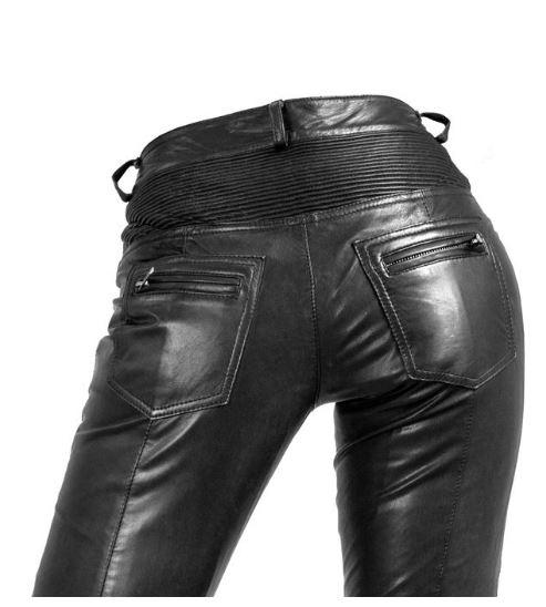 6aebeac2790b Damen-Lederhose Ricano Donna Lammnappa-Leder schwarz