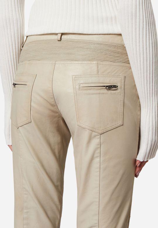 b757e3ac6118 Damen Lederhose Ricano Donna Lammnappa-Leder weiß