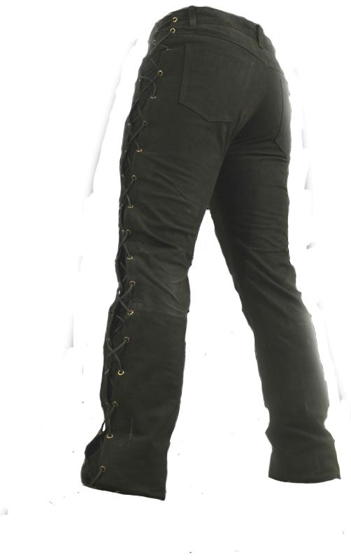 Schnürlederhose Ricano 501 Nubuk schwarz