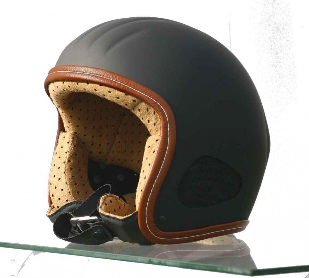 Motorradhelm Skorpion Titan Retro Jethelm schwarz