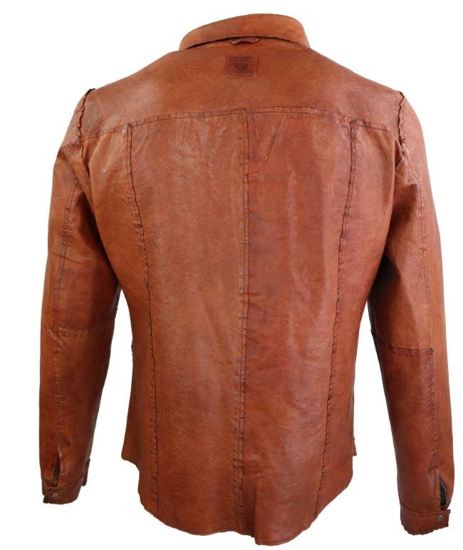 Lederhemd Ricano Reverse Shirt Braun