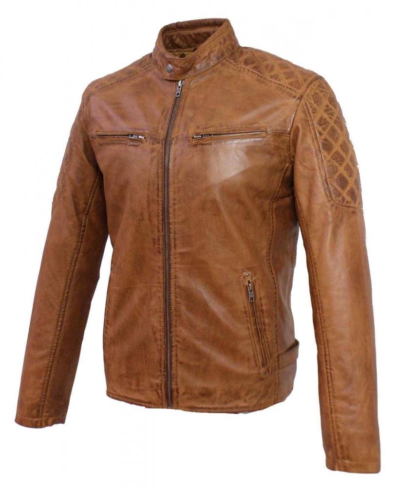 Leather Jacket Ricano Nevio cognac
