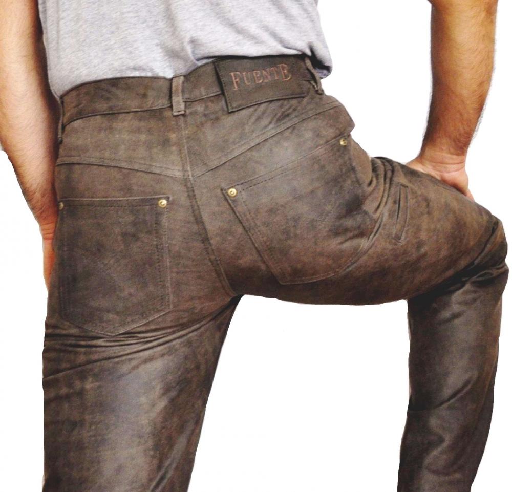 Lederhose Fuente Antikleder Braun