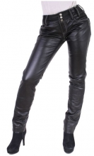 Leather Pants Skinny Tight Genuine Lambskin Leather
