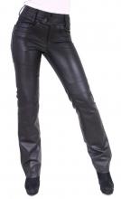 Damen-Lederhose Ricano Triston Lammnappa-Leder schwarz