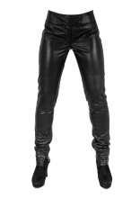 Tight Leather Pants Genuine Lambskin Leather 1339 black