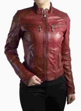 Ladies Leatherjacket Ricano Rihanna Lambskin Leather Red