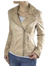 Ladies Leatherjacket Ricano Kaise Lambskin beige