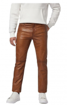Leather Pants Ricano Trand Pant 501 Goat Nappa Leather Cognac