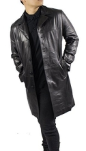Leather Coat Lambskin Leather Ricano Safary black