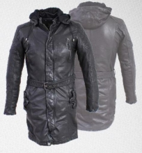 Leather Coat Ricano Arno Lambskin Leather black