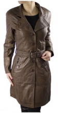 Leather Coat Lambskin Leather Ricano Lena brown