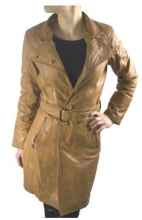 Leather Coat Real Lambskin Leather Ricano Lena cognac