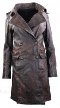 Womens Leather Coat Ricano Mang Lambskin Leather black