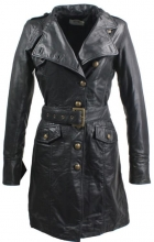 Leather Coat Women Ricano Sera Real Lambskin Leather black