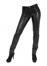 Tight Leather Pants Ricano Donna 2 real Lambskin Leather black