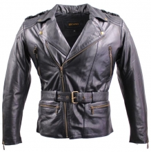 Leather Jacket Ricano Chopper Cow Nappa Leather black