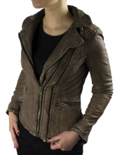 Ladies Leather Jacket Ricano Betty Lambskin Leather Brown