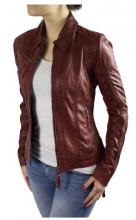 Ladies Leather Jacket Ricano Sabra Lambskin Leather Red