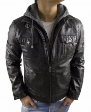 Mens Leatherjacket Ricano Rex Buffalo Nappaleather Black