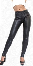 Womens Leather Leggings Ricano Pandor Lambskin Leather black