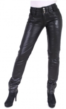 Leather Pants Ricano Skinny Fit Lambskin Leather black