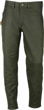 Leather Pants oiled Fuente deluxe Buffalo Nubuk Leather olive