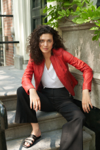Damen Lederjacke Ricano Abigale Rot