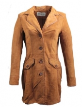 Real Lambskin Leather Coat Ricano Martina brown