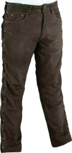 Lace-up Leather Pants Fuente deluxe Buffalo Nubuckleather Brown