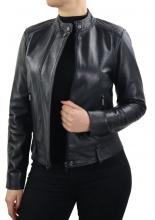 Womens Leatherjacket Ricano Sage Lambskinleather black