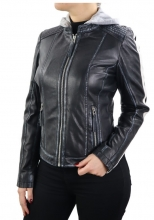 Leather Jacket Ricano Fitten Lambskinleather black